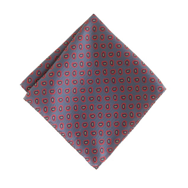 Italian silk pocket square in paisley