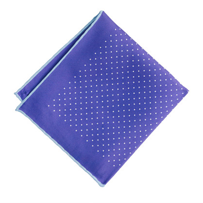 Silk mini-dot pocket square
