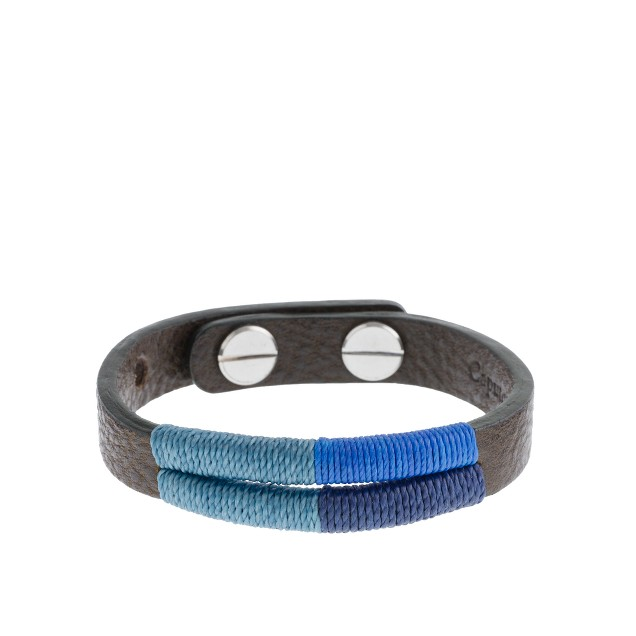 Caputo & Co. colorblock hand-stitched bracelet