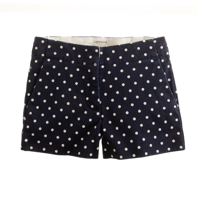 Girls' polka-dot short