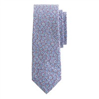 Cotton tie in Liberty speckle floral