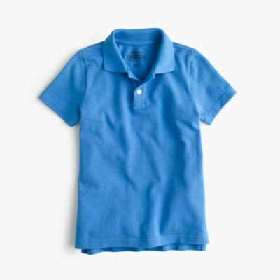 Boys' piqué polo shirt