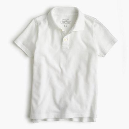 Boys' piqué polo shirt