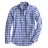 Vintage Oxford shirt in dark pacific gingham