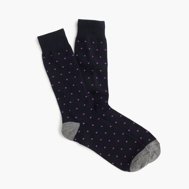 Bird's-eye print socks