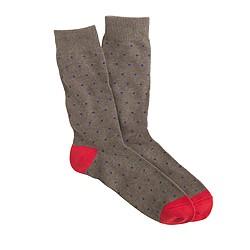 Bird's-eye print socks