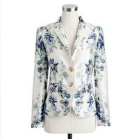 Collection schoolboy blazer in shadow floral