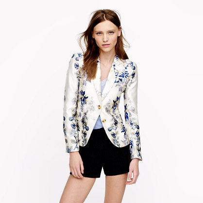 Collection schoolboy blazer in shadow floral