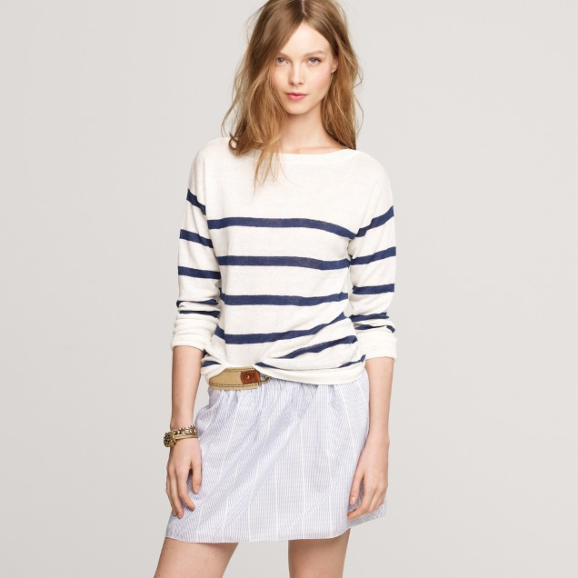 Stripe boatneck sweater