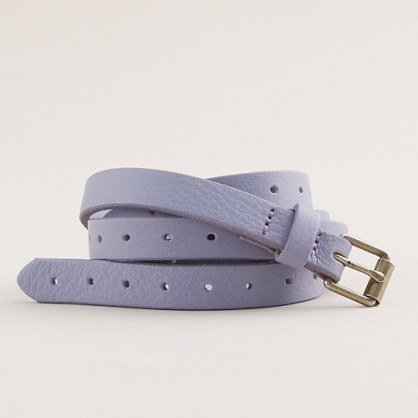 Notched skinny belt
