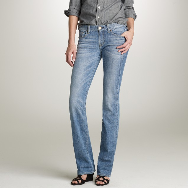 Tall bootcut jean in faded blues