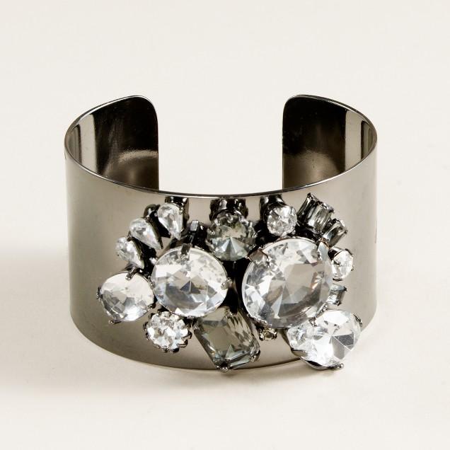 Crystal cluster cuff