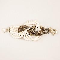 Knotted twist bracelet