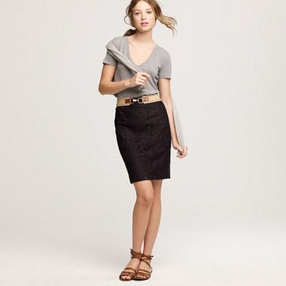 Heirloom lace pencil skirt