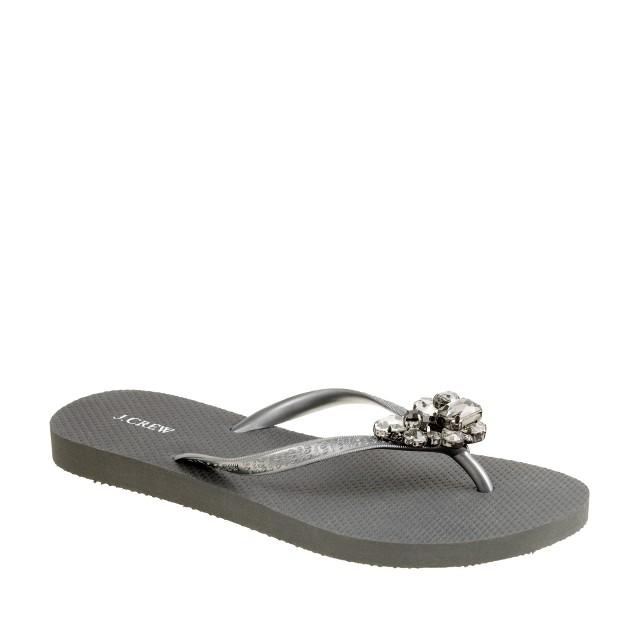 Stacked jewel flip-flops