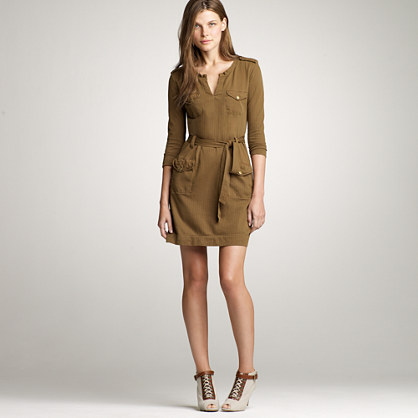 Herringbone cargo dress