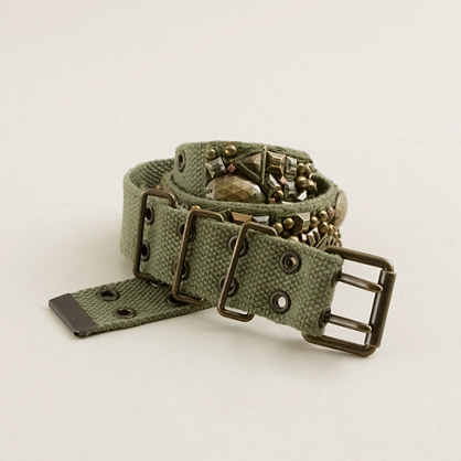 Beaded military belt