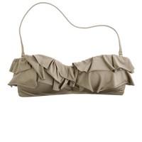 Jersey Lomellina® ruffle bandeau top
