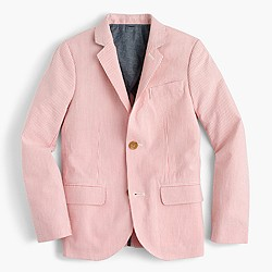 Boys' Ludlow suit jacket in seersucker