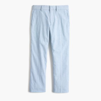 Boys' Ludlow slim suit pant in seersucker