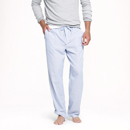 Classic end-on-end stripe pajama pant