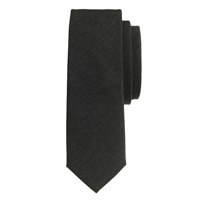 Italian wool tie in grey