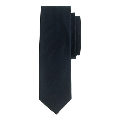 Extra-long Italian cotton chino tie