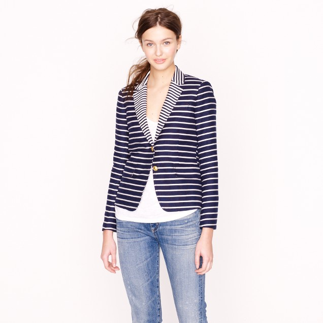 Classic schoolboy blazer in mixed stripe