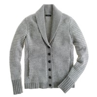 Collection cashmere shawl cardigan