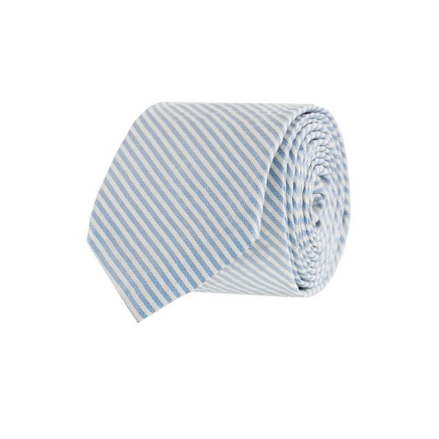 Yacht seersucker tie