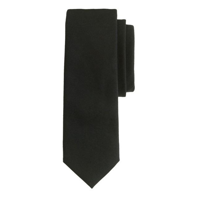 Italian wool tie in black
