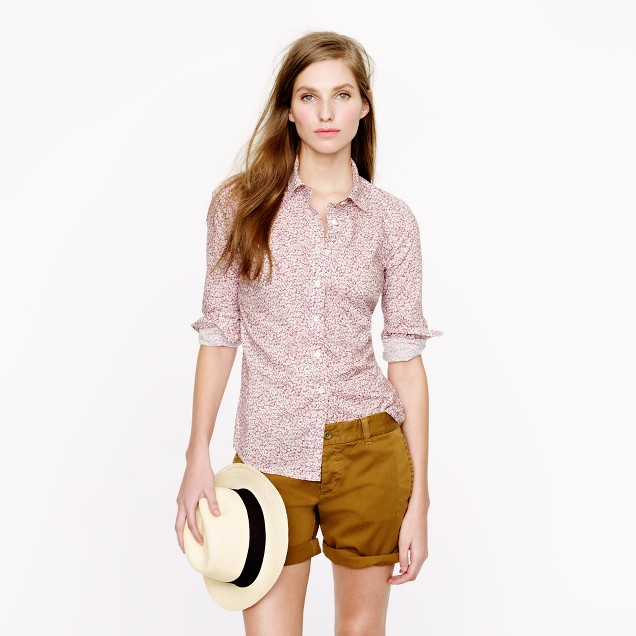 Liberty perfect shirt in Pepper floral