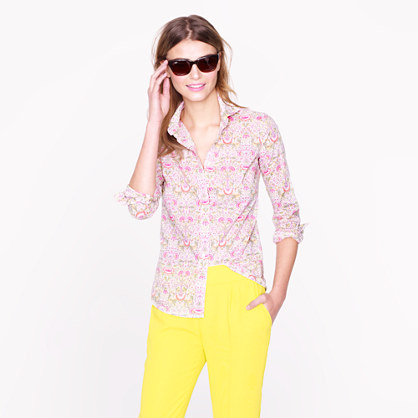 Liberty perfect shirt in Lodden paisley