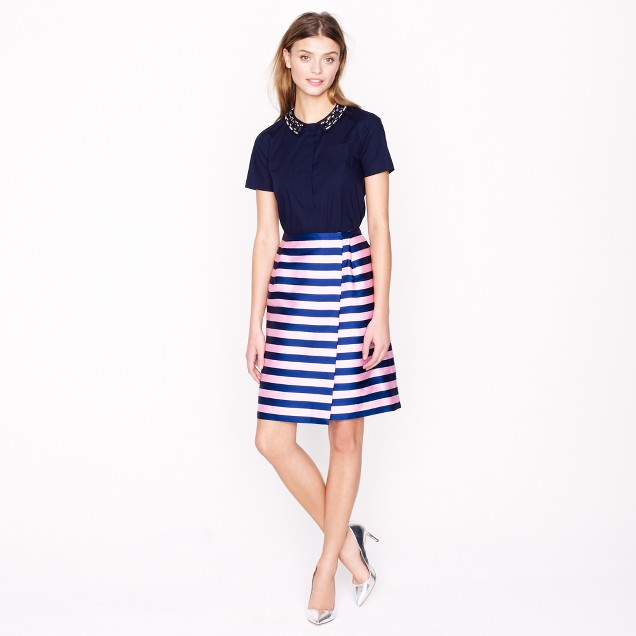 Pencil wrap skirt
