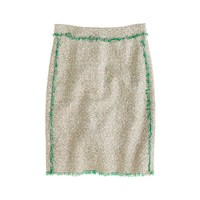 Cream glimmer tweed mini