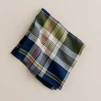 Crestline madras pocket square