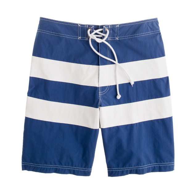"9"" board short in wide stripe"