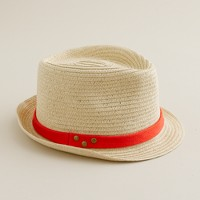 Kids' red band trilby hat