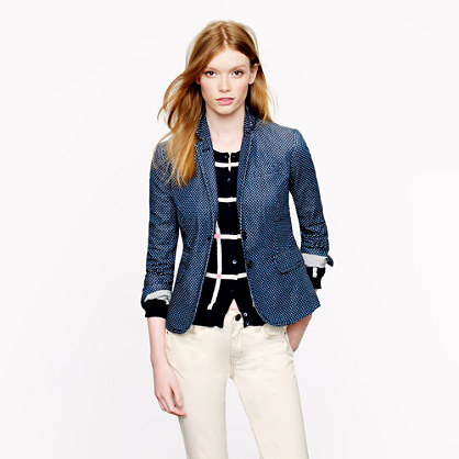 Classic schoolboy blazer in indigo dot