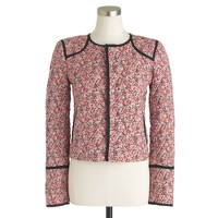 Liberty quilted jacket in Chive floral