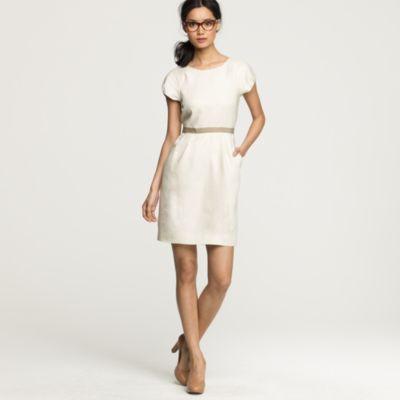 Summer hours dress in linen :  J.Crew