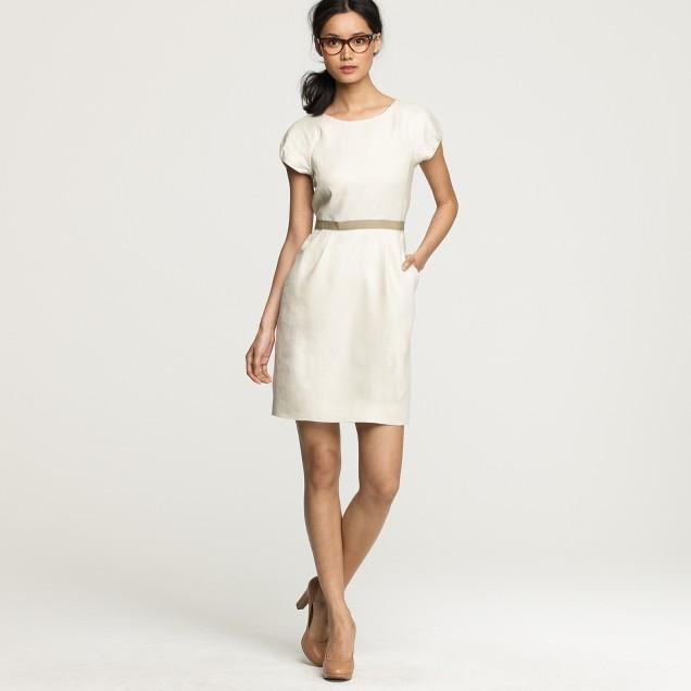 Summer hours dress in linen