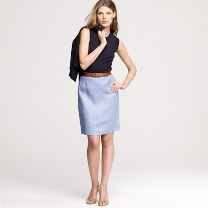 Conference skirt in linen