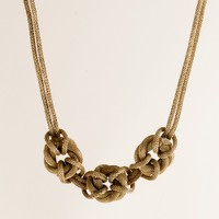 Knotted mesh necklace