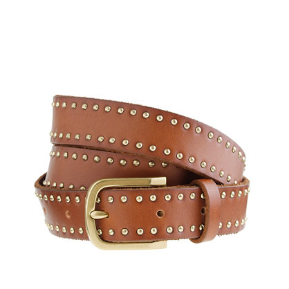 Tiny-stud denim belt