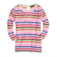 Collection featherweight cashmere Tippi sweater in candy stripe