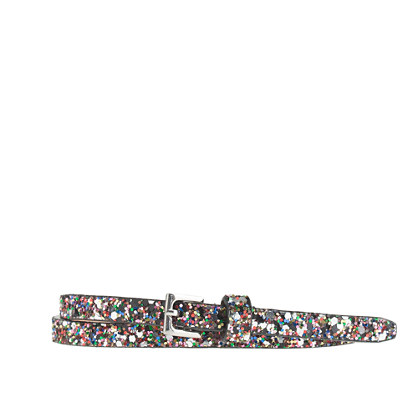 Girls' superskinny glitter belt