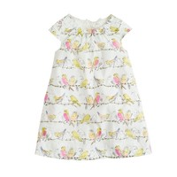 Girls' birdsong print dress