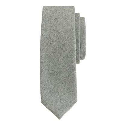 Italian wool tie in medium grey