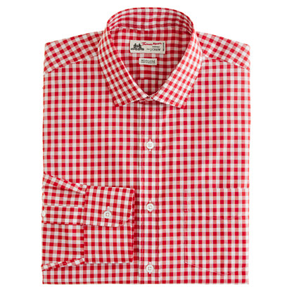 Thomas Mason® for J.Crew spread-collar dress shirt in gingham